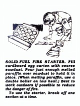 Boy Scouts Solid Fuel Egg Carton Sawdust Fire Starter