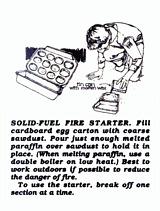 Boy Scouts Solid Fuel Egg Carton Sawdust Fire Starter