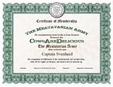 The Meatatarian Army Membership Certificate